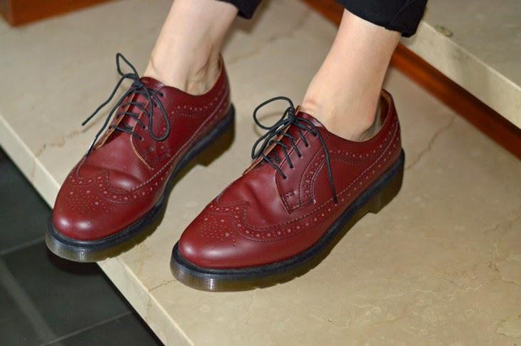 Dr Martens 3989 Cherry Red dottor martens borgogna