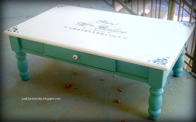 coffee+table+after Painting furniture makeovers {Newbie with a twist party started}