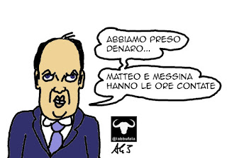 Alfano, Azzollini, divina provvidenza, NCD, satira vignetta