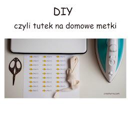 TUTORIAL jak zrobić domowe metki!