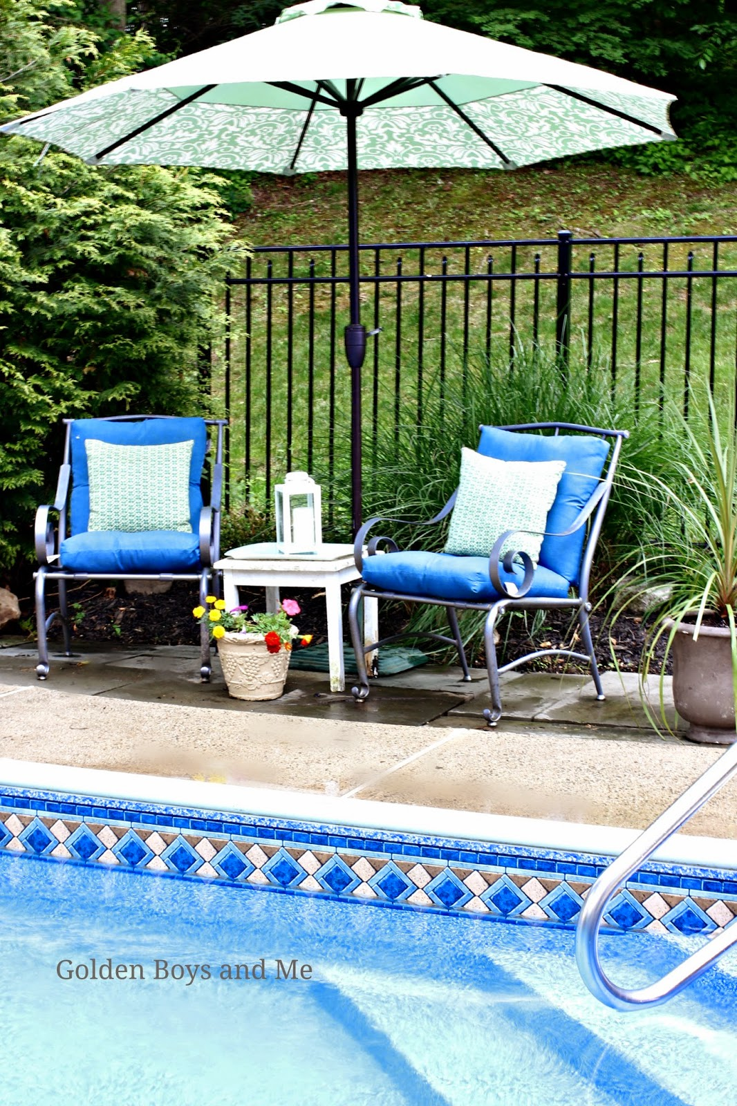 Golden Boys and Me: Our Pool and Patio