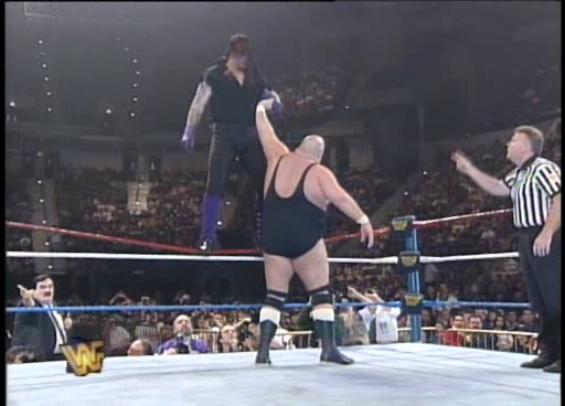 WWF / WWE: Wrestlemania 11 - The Undertaker goes 'old school' on King Kong Bundy
