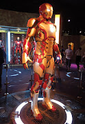 Iron Man 3 Mark 42 armour on display. (ironman mark suit)