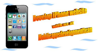 iPhone web site development at Mobileappsdevelopmentteam