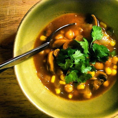 Spicy Chickpea & Vegetable Soup | The Economical Eater