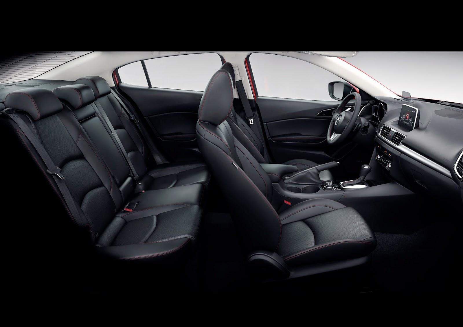 Interior view of 2015 Mazda 3