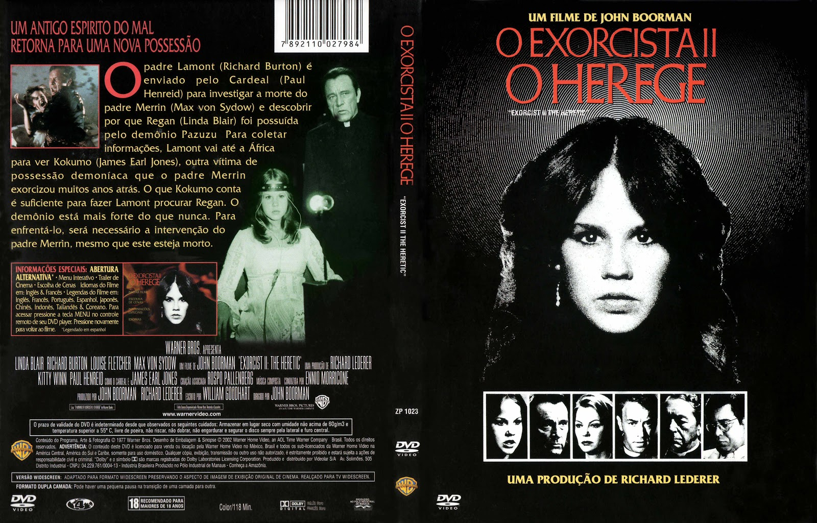 Capa DVD O Exorcista 2 O Herege