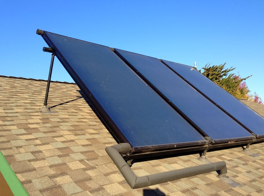 the solar thermal panels are made by heliodyne a solar