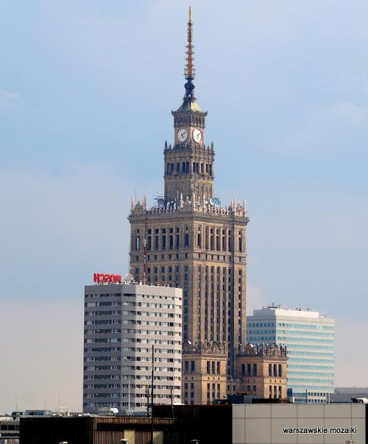 widok panorama Warszawa PKiN