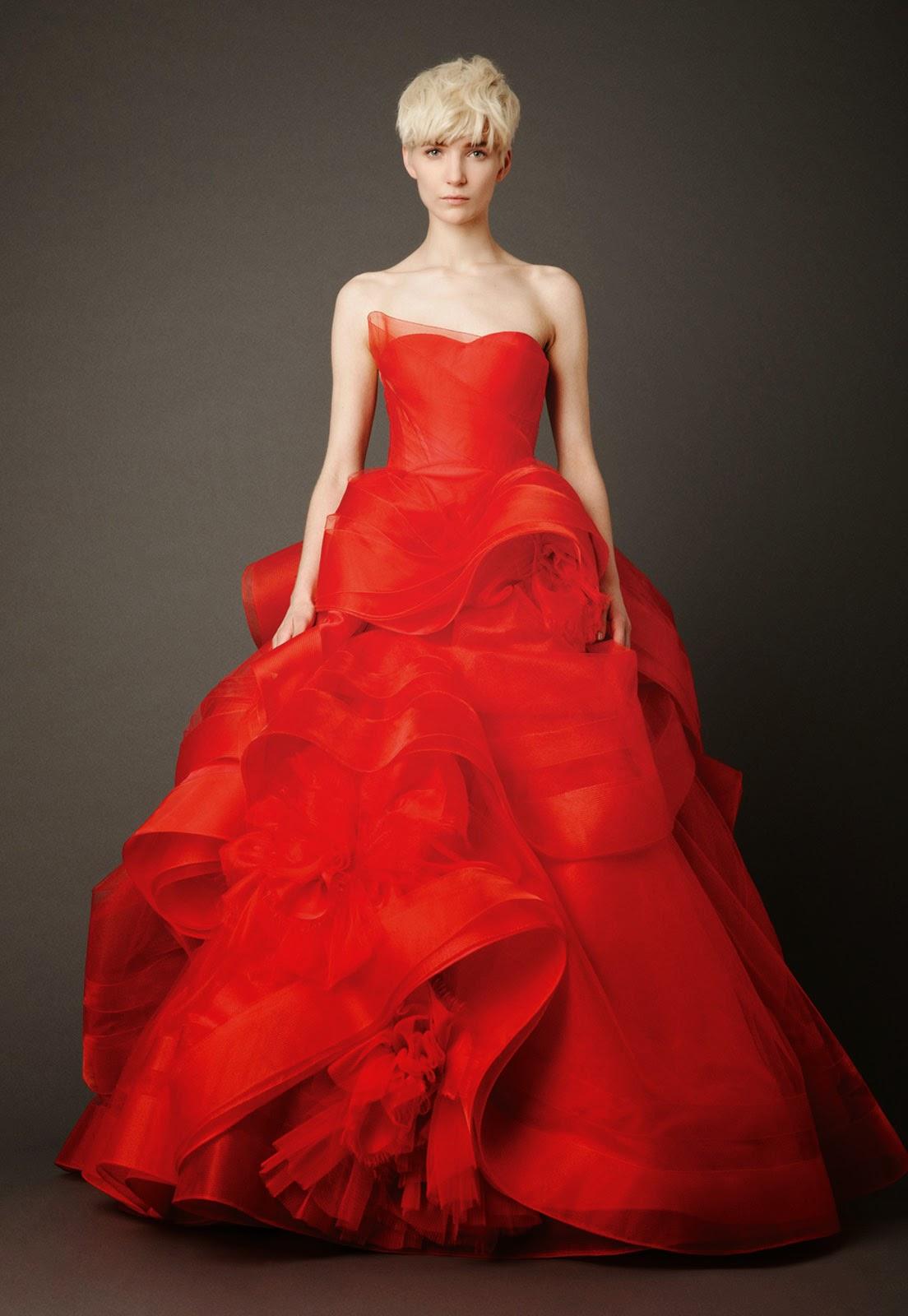 Best Red Wedding Dresses 2013 Design Ideas Photos HD