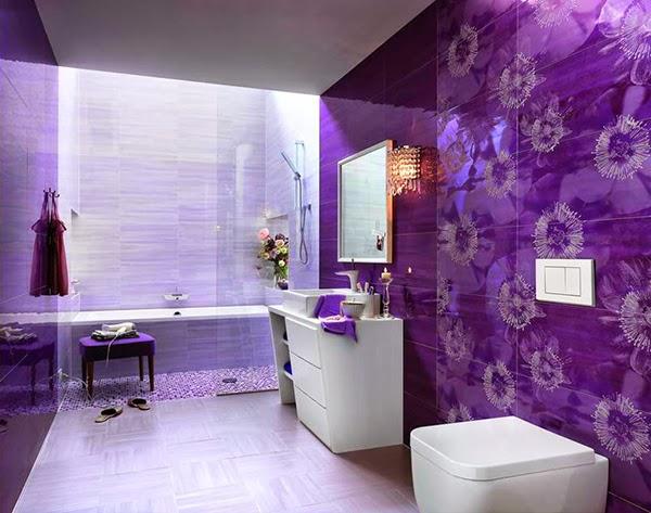 Decoración Baño Lila:Purple Bathroom Ideas