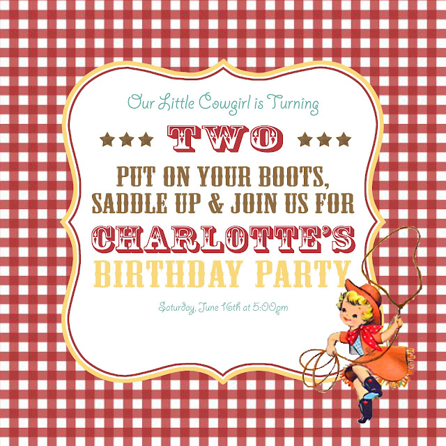 Birthday Party Charlotte Nc: Charlotte's Vintage Cowgirl Party