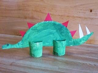 This is my new improved version on the Paper Plate stegosaurus dinosaur craft. The latest innovation is using toilet paper rolls for the legs so it stands ... : dinosaur paper plate - pezcame.com