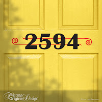Art Deco Custom House Number Vinyl Door Decal