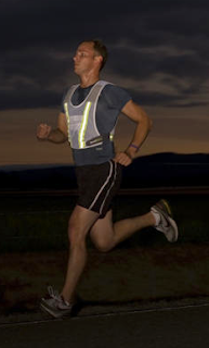 RoadNoise Running Vest at Night