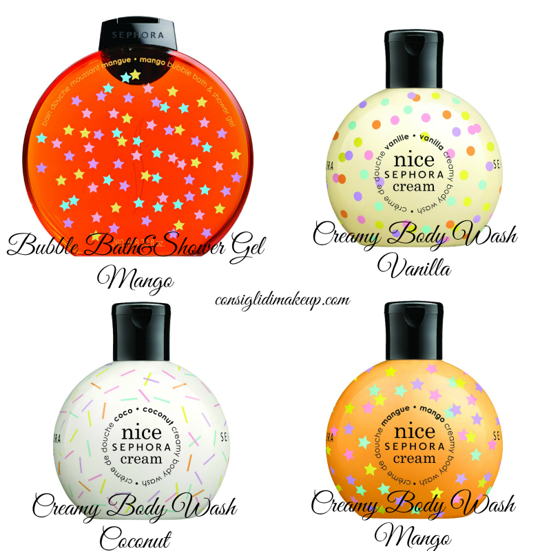 bubble bath &shower gel, creamy body wash nice cream sephora