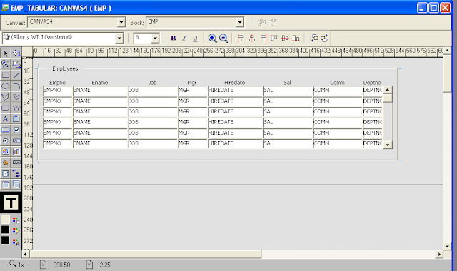 Discrimination between odd and even records in oracle forms for Table design oracle