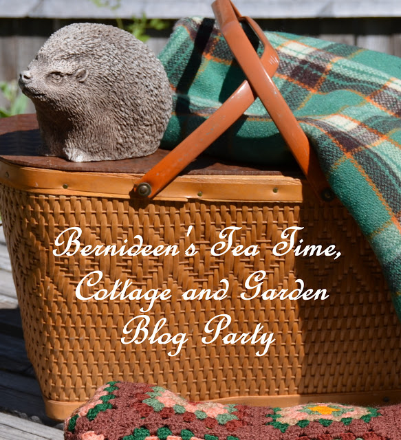 I was featured at Bernideen's Tea Time, Cottage and Garden Blog Party.