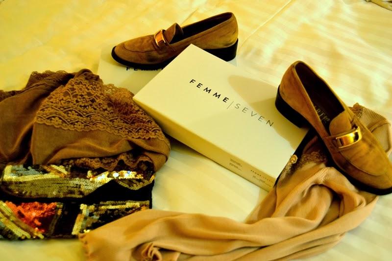 shoes scarf bag femme seven fashion