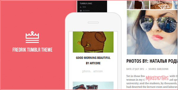 Fredrik - An Adaptive Tumblr Theme
