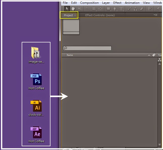 Importing PSD、AI、Sequence and aep Files in AE 01
