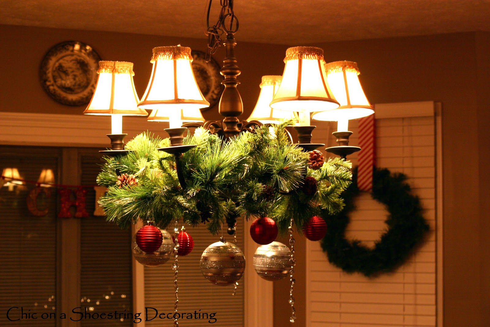 anyone can decorate - How To Decorate A Chandelier For Christmas