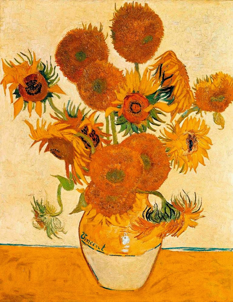Vincent van Gogh Vase with Fifteen Sunflowers