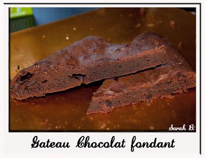 recette facile gateau chocolat fondant