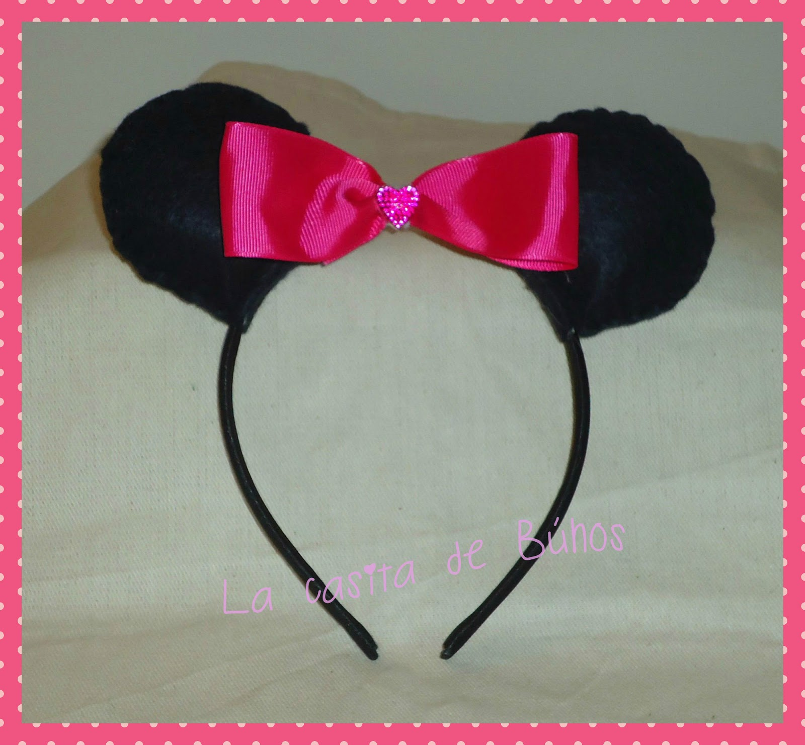 Orejas minnie mouse en fieltro