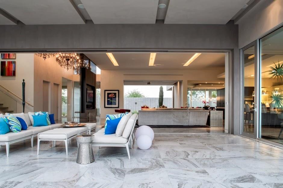 Casa moderna birds nest dise o de brent kendle en for Pisos para terrazas interiores