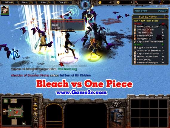 warcraft 3 frozen throne naruto vs bleach vs one piece download