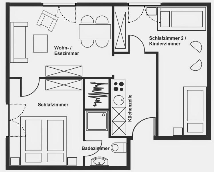 Einfacher grundriss  Einfacher grundriss | Grundriss zeichnen