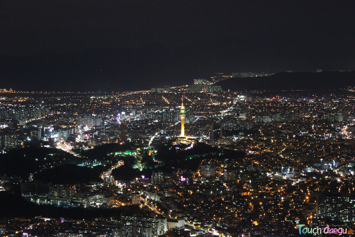 The night view of Daegu