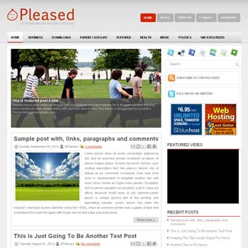Pleased blog template. template image slider blog. magazine blogger template style. wordpress theme to blogger