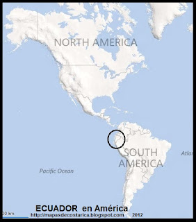 Ubicación de ECUADOR en América, BING