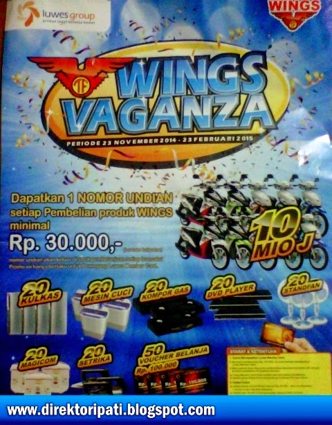 Promo Luwes Terbaru Program Undian Wings Vaganza