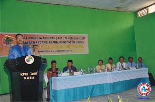 Walikota Hadiri RAT KPRI Jaya Guru-guru SDN Raba Kota Bima