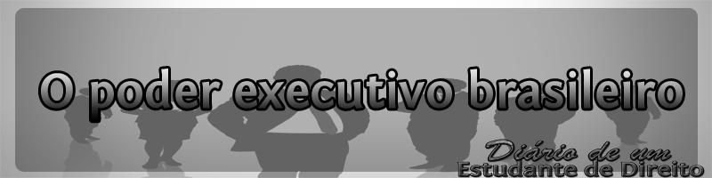 O poder executivo