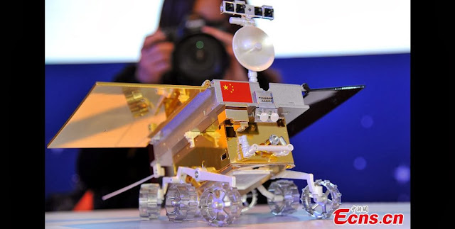The model of China's first moon rover. Credit: ecns.cn