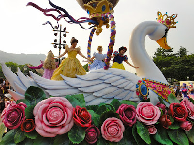 Disney Princesses at Flights of Fantasy Parade Hong Kong Disneyland