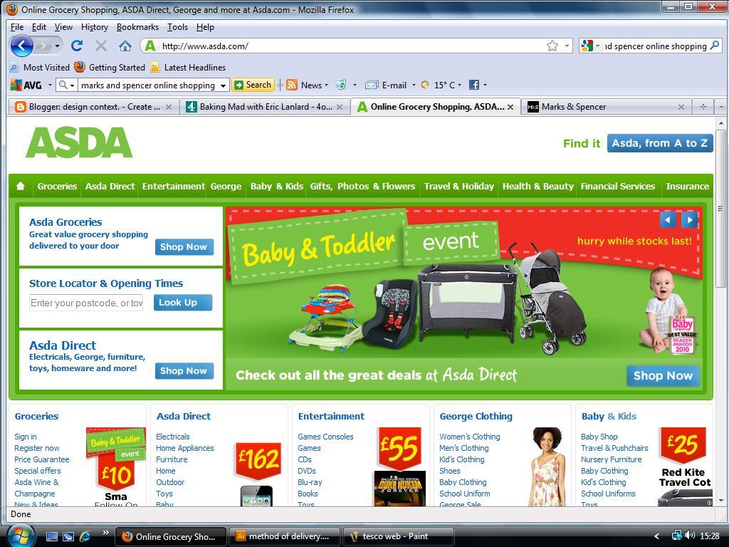 Online shopping vouchers asda