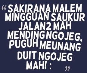 kata lucu bahasa Sunda kasar