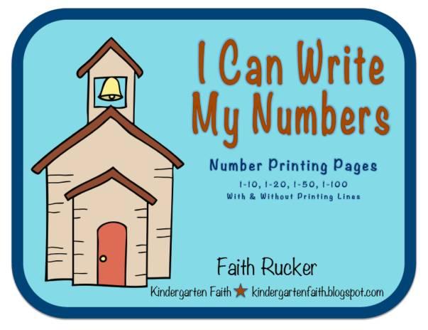 Kindergarten Faith: I Can Write My Numbers!