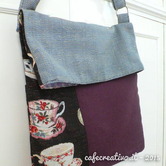 Ben noto Cartamodello e Tutorial per realizzare una borsa piegata - Cafe  UQ11