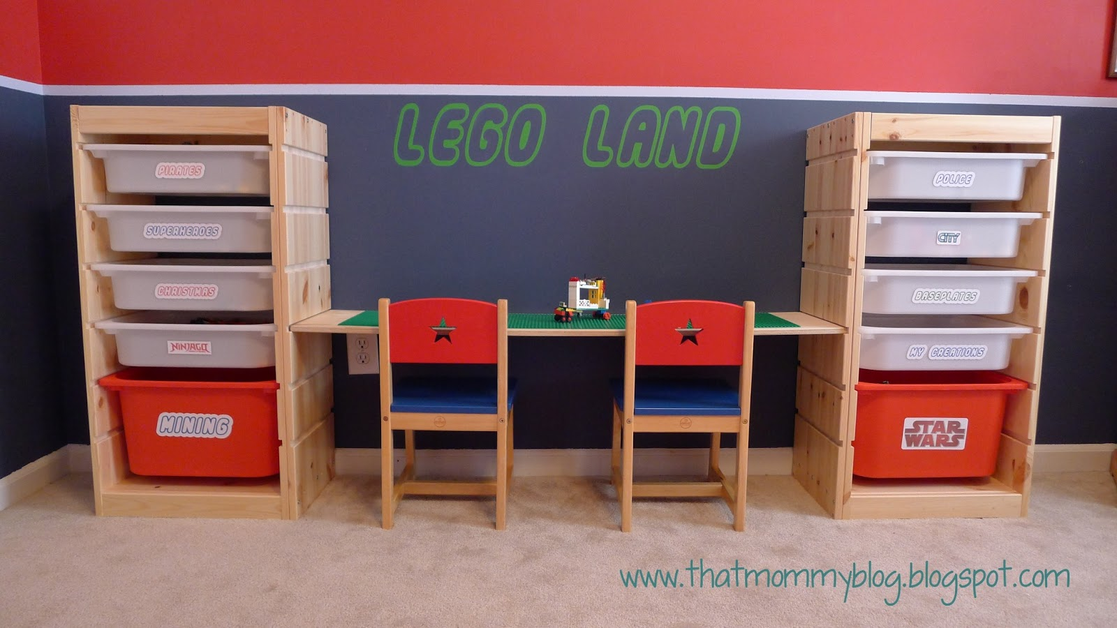 present to you...my Adjustable Height DIY Lego Table and Storage ...