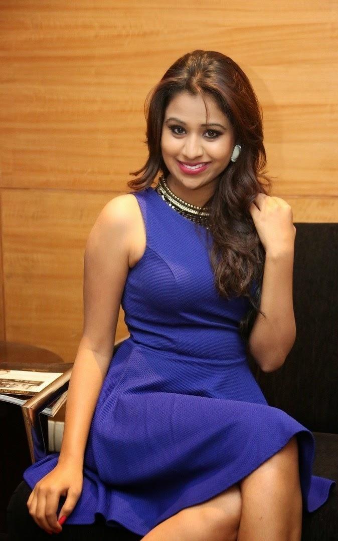 Manali Rathod In Blue Hot Dress New Photoshoot