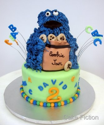 Cake Fiction Cookie Monster Birthday Cake