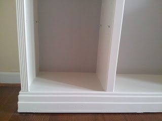 My Decor Education_ikea billy bookcase hack finished trim