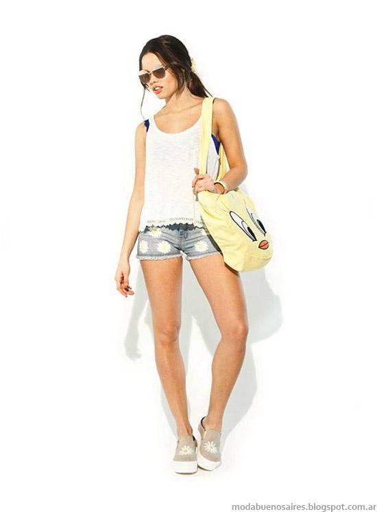 Blusas y tops de moda 47 Street verano 2015.