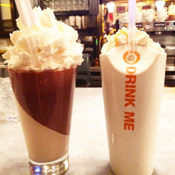 Milkshakes from Max Brenner, Boston